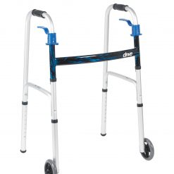 Deluxe, Trigger Release Folding Walker with 5 inch Wheels