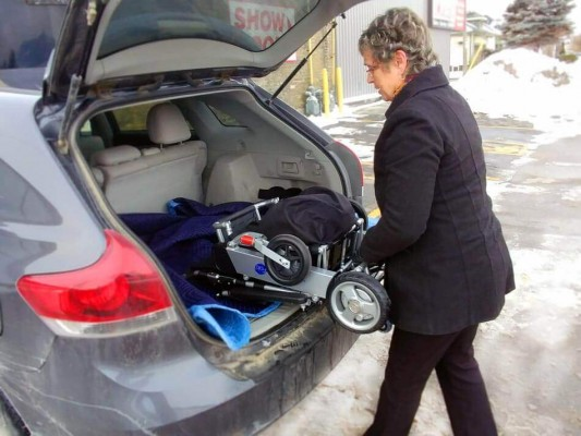 Easyfold Wheelchair in the trunk of a car