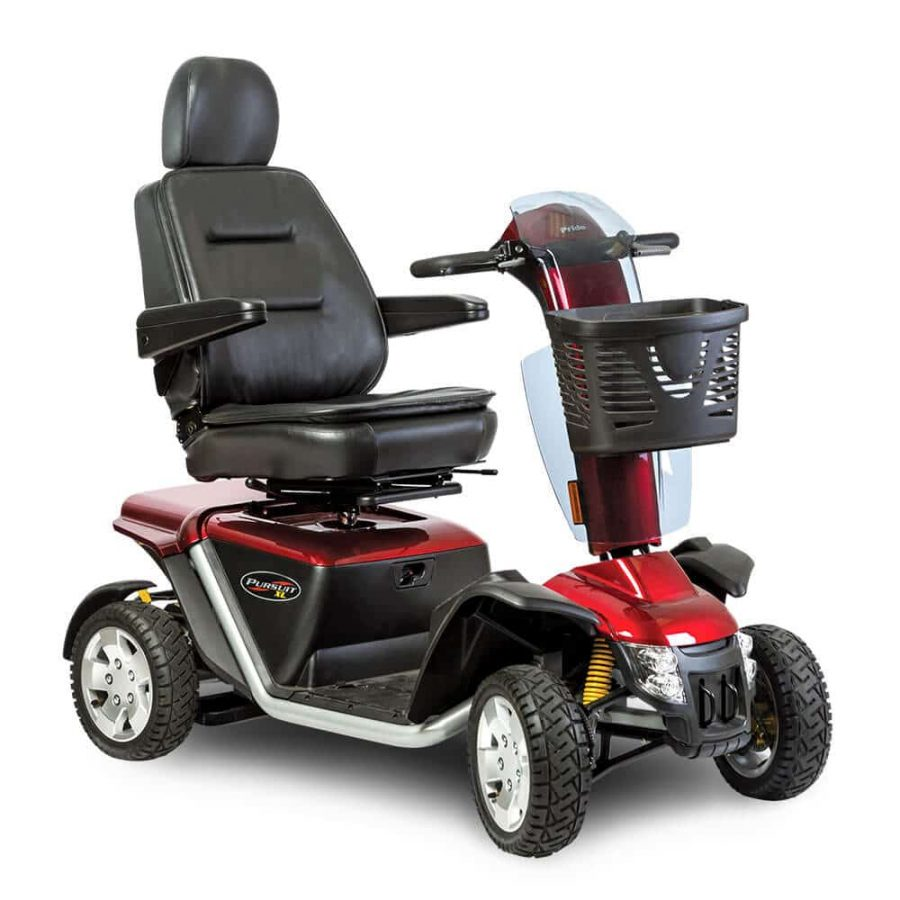 Red Pursuit XL (4 Wheel) Mobility Scooter