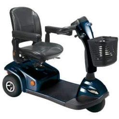 Blue Invacare Leo 3 wheel